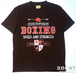 Футболка Crew&King Boxing Speed And Strength Brown