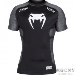 Рашгард Venum «Absolute» Compression T-Shirt - Dark Grey Short Sleeves
